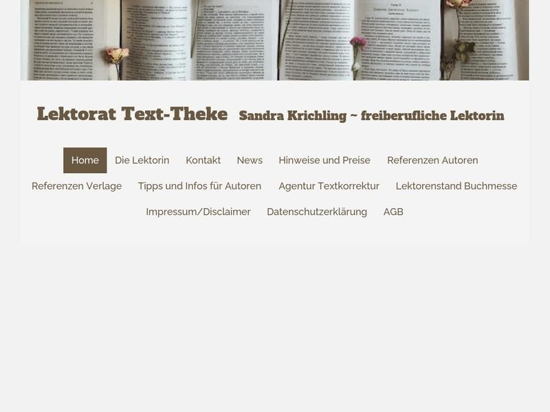 Screenshot von http://www.texttheke.com/Home